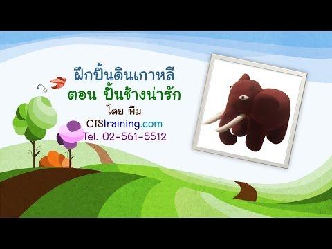 ฝึกปั้นดินเกาหลีกับ CIStraining.com 7:ปั้นช้าง น่ารัก