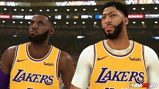 NBA 2K20 1st Screenshot LeBron James, Anthony Davis!