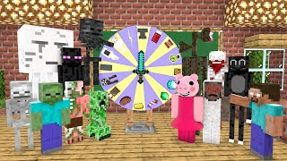 MONSTER SCHOOL vs SCP : LUCKY WHEEL + BILLIARD GAME (GRANNY, SIREN HEAD, SCP 096, CARTOON CAT,PIGGY)