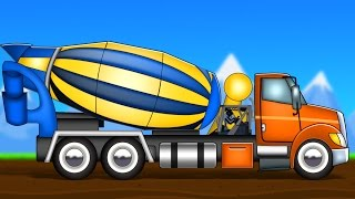 concrete mixer | formation and uses | videos for kids | construction vehicles