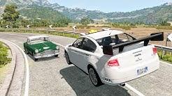High Speed Traffic Crashes #55 - BeamNG Drive | CrashBoomPunk