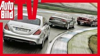 Mercedes S 63 AMG vs. Audi S8 vs. Jaguar XJR