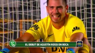 El debut de Agustín Rossi en Boca Juniors