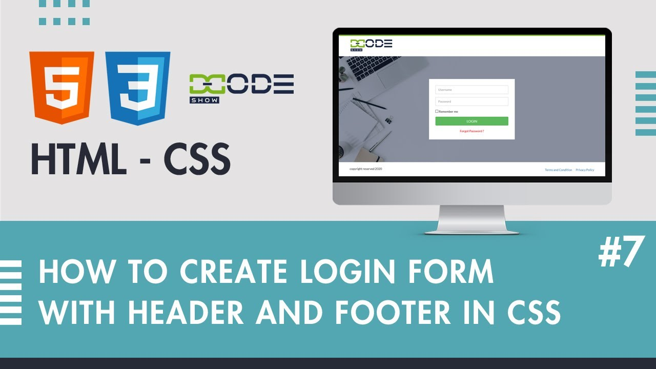 Login Form in HTML CSS | Login Page in HTML CSS Bootstrap