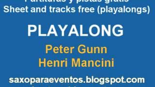 Partitura y pista de Peter Gunn de Henry Mancini