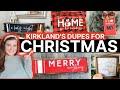 Kirklands Inspired Christmas DIYs | Farmhouse Dollar Tree DIY Holiday Decor
