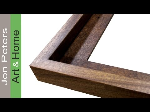 How To Get Perfect Miter Joints Make A Frame Youtube