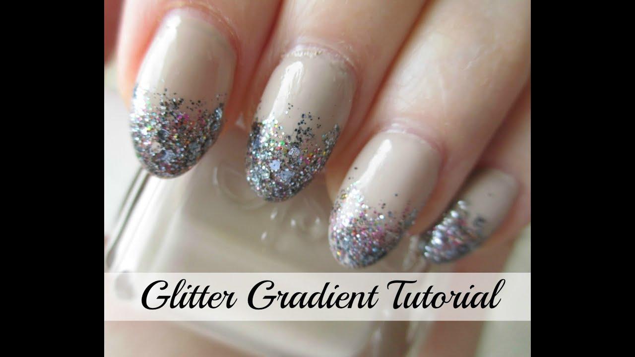 Nail Colors Youtube: Glitter Gradient Nail Polish Tutorial