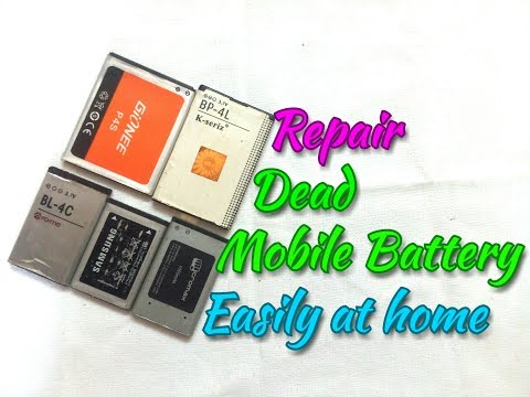 How To Repair Dead Mobile Battery..Fix Dead Cell Phone Battery At Home. Process Easy Way..