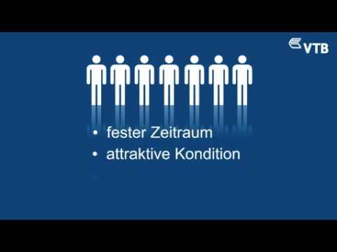 """VTB Direktbank präsentiert VTB DUO Produktvideo / Innovative Darstellungsform macht die Vorteile des flexiblen Festgeldkontos """"VTB DUO"""" noch deutlicher"""