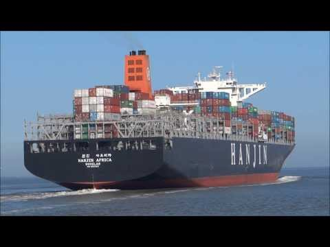 Hanjin Africa - large container ship, 366 m length, IMO: 9502910