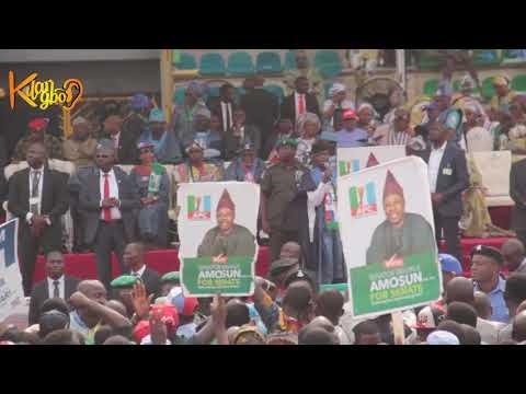 Show Of Shame! Tinubu and Amosun Drama As Abeokuta Crowd Disgraced Buhari At APC Presidential Rally thumbnail