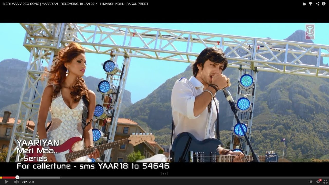 Yaariyan Hindi Movie MERI MAA Song LYRICS -...