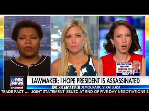 "Democrat Lawmaker says, ""I Hope Trump Is Assassinated"" and FAKE MEDIA ignores it,"