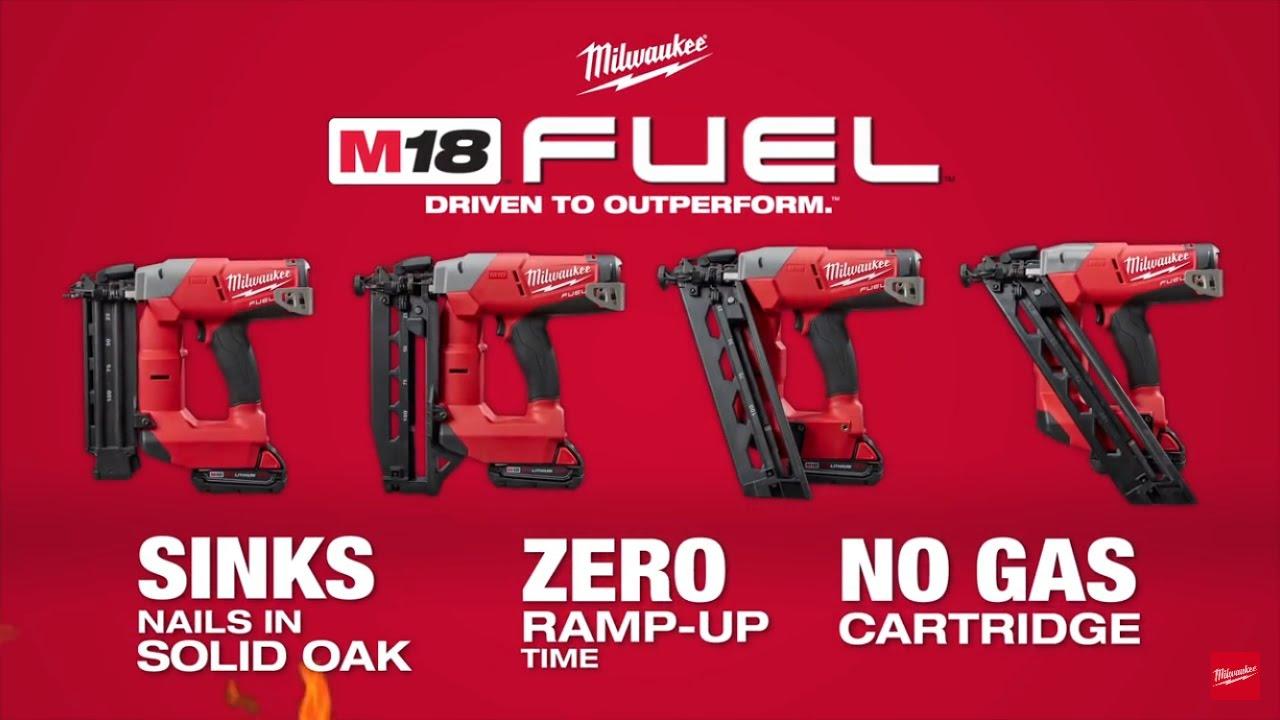 Milwaukee 174 M18 Fuel Finish Nailers Youtube