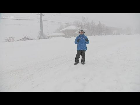 """Jim Cantore in Boone:  """"We're getting crushed"""""""