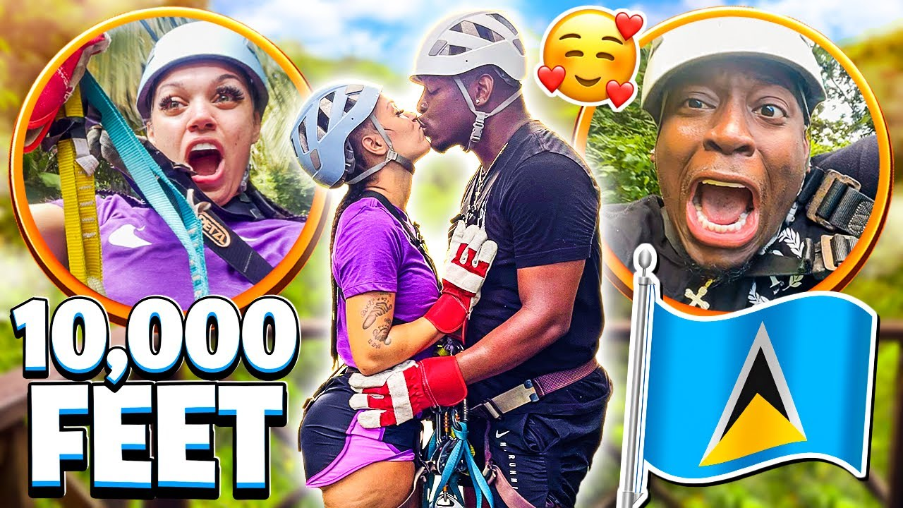 WE WENT ON THE WORLDS SCARIEST ZIPLINE IN ST. LUCIA **BAD IDEA**