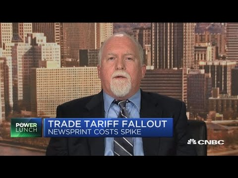 Tariff fears hit newspaper business