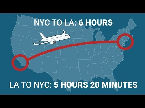 Here's why west-bound flights always take significantly longer