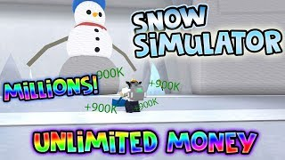UNLIMITED MONEY GLITCH *WORKS* Snow Shoveling Simulator ROBLOX