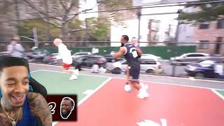 FlightReacts To Cashnasty GETTING CARRIED BY A FEMALE HOOPER vs TJass In The Hood 2V2!