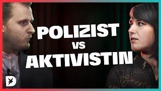 Hat die Polizei zu viel Macht? Polizist vs. Aktivistin | DISKUTHEK
