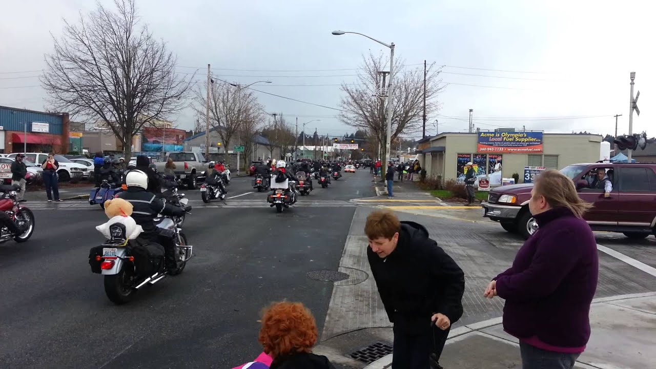 Toys For Tots Bike Ride Olympia Wa Youtube