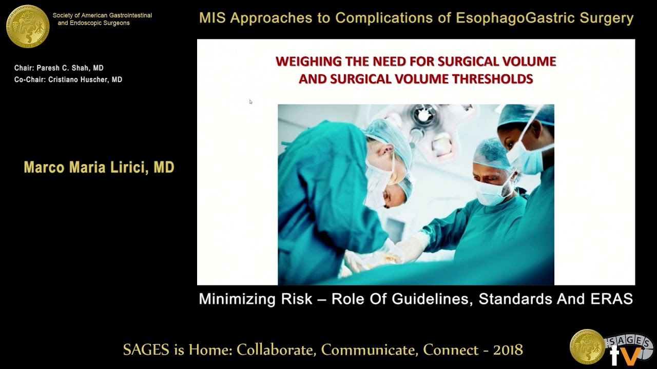 Minimizing risk - Role of guidelines, standards & ERAS from the