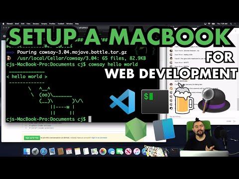 💻✨ - Setting up a Mac for Web Development - 2020 - Homebrew / Terminal / git / Code Editor / Node.js