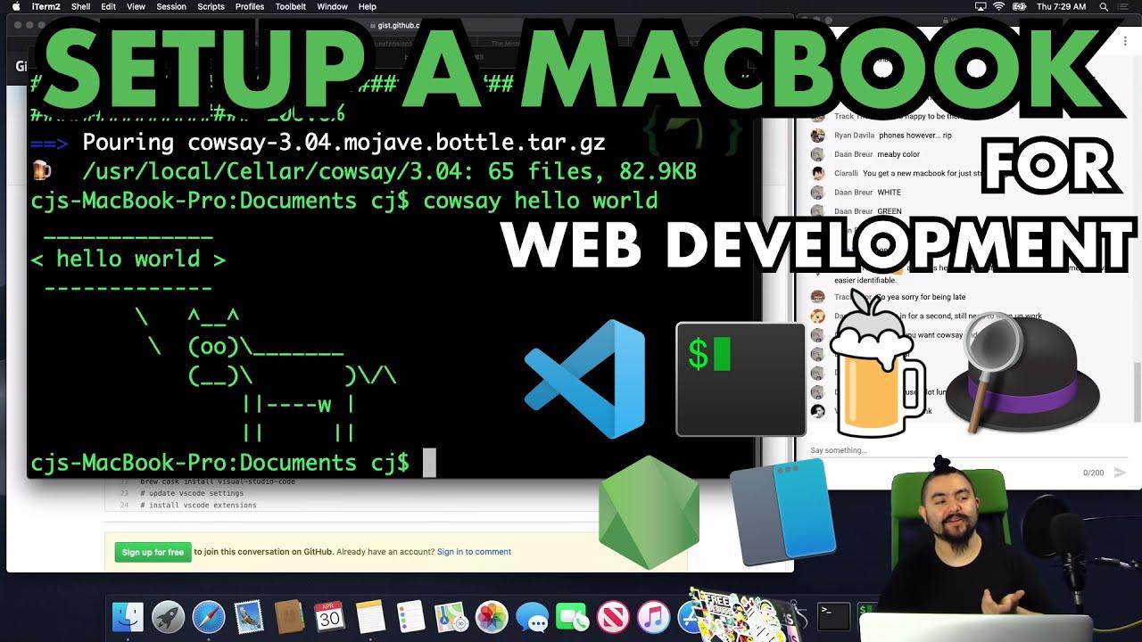 Download 💻✨ - Setting up a Mac for Web Development - 2020 - Homebrew / Terminal / git / Code Editor / Node.js
