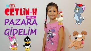 Ceylin-H   Pazara Gidelim Çocuk Şarkısı – Nursery Rhymes & Super Simple Kids Songs Sing & Dance