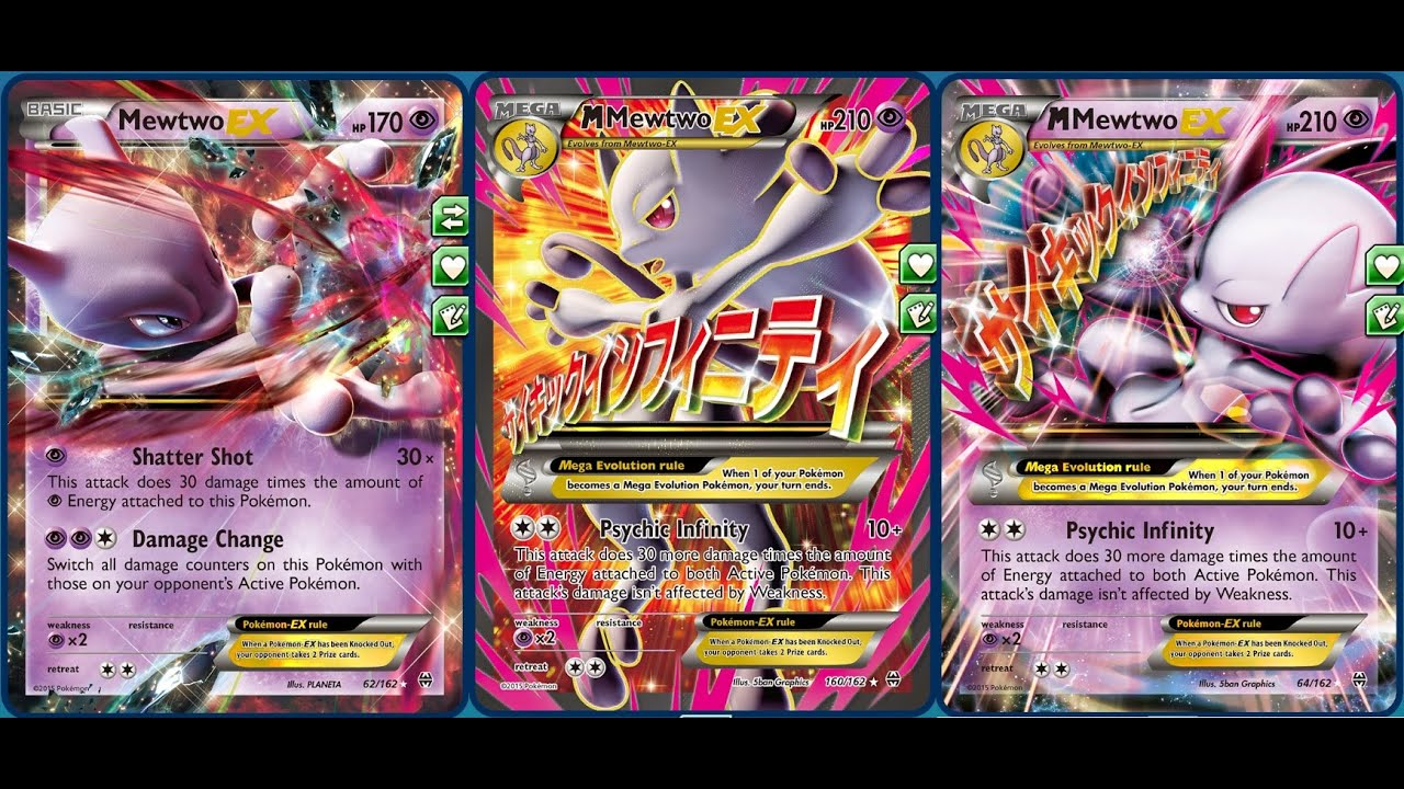 Psychic infinity mega mewtwo y deck with quot damage change quot healing set