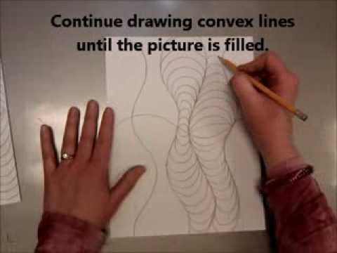 Curved Lines In Art : Op art curved vertical lines youtube