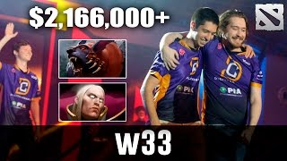 w33 secures Top 3 TI for DC Dota 2