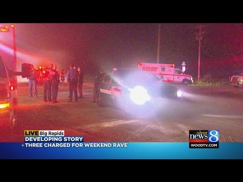 3 charged after Mecosta County rave