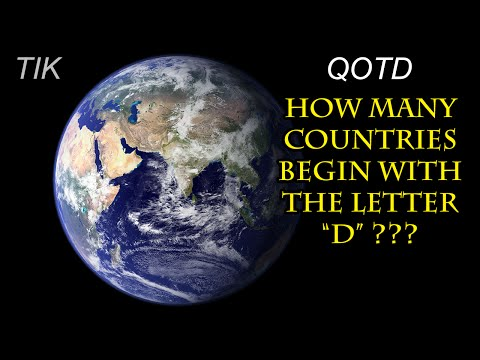 How Many Countries Begin with the Letter