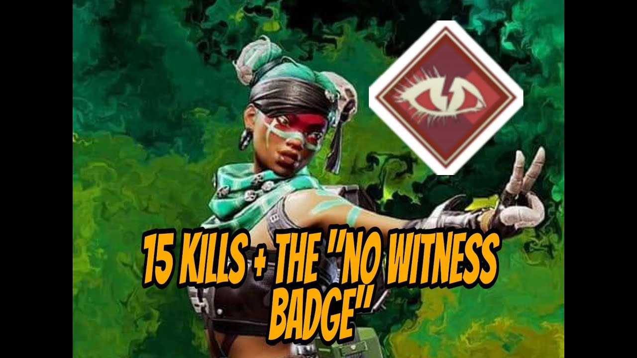 """I dropped 15 kills with the """"No witness badge"""" with this squad!! Apex legends gameplay"""