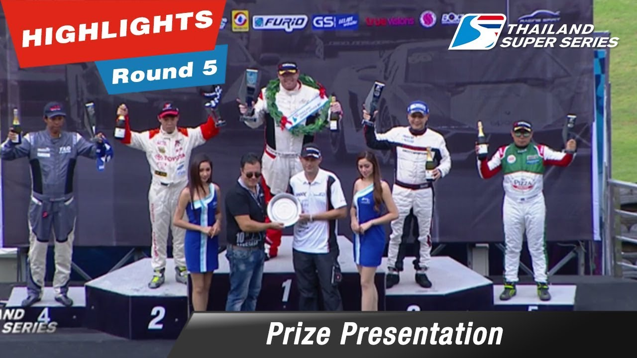 Prize Presentation Thailand Super Car GTC  : Round 5 @Chang International Circuit
