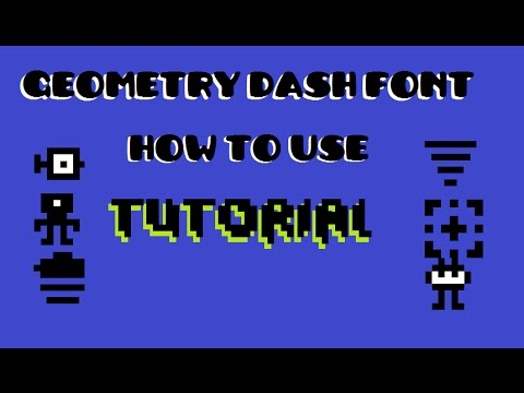 Geometry Dash How To Use The Other Geometry Dash Font On Paint Tutorial Youtube