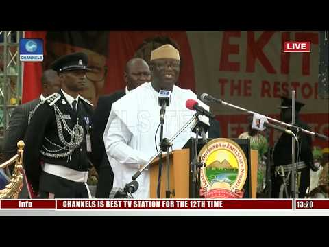I Promise To Do Right By The People Of Ekiti State - Fayemi |Live Event|