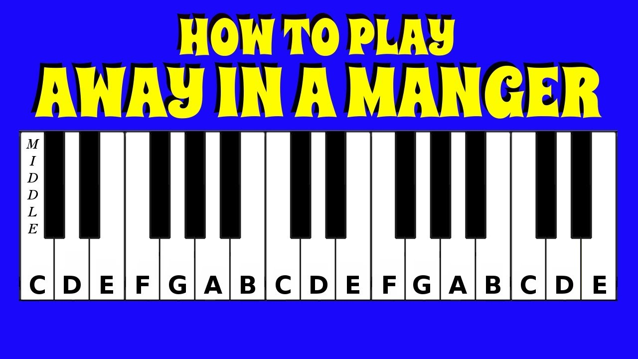 How to Play Away In A Manger | Piano / Keyboard Tutorial | Letter Notes |  Easy Tutorial