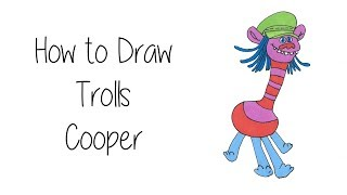 How to Draw Cooper From The Trolls Movie 2016
