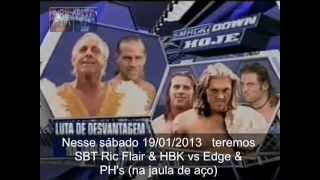 WWE SBT Ric Flair & HBK vs Edge & PH