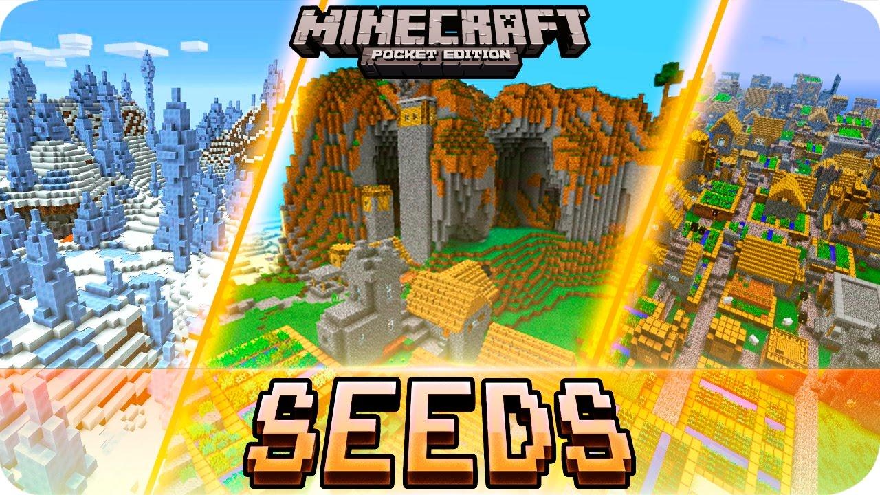 Minecraft Pe - Top 5 Seeds  Villages  Survival Islands  U0026 More - Mcpe 1 2    1 1