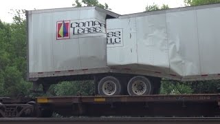 Broken Trailer on BNSF Intermodal at Burr Ridge, IL and More Action 5/20/12