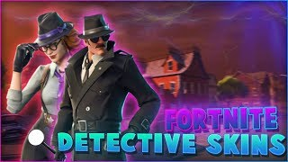 *NEW* DETECTIVE SKINS (Sleuth,Gumshoe and Noir) in FORTNITE shop update! - SHOWCASE