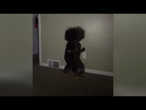 Watch 1-Year-Old Boy Fight His Own Shadow