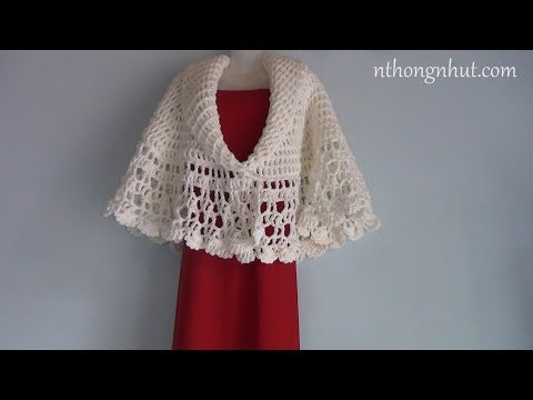 Crochet Bolero Tutorial (Eng Sub) I Móc áo Len Nữ Họa Tiết Rẻ Quạt
