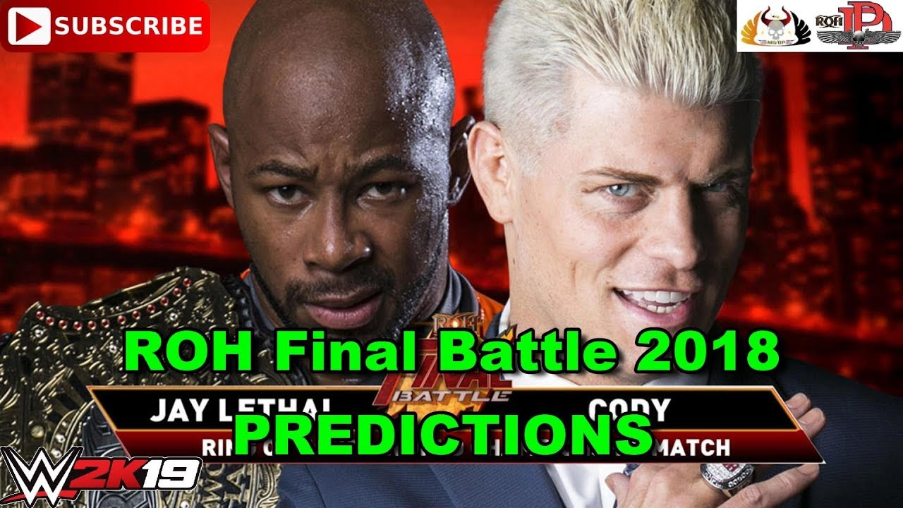 ROH Final Battle 2018 ROH World Championship Jay Lethal vs. Cody Rhodes Predictions WWE 2K19