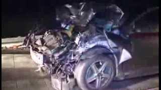 05.12.2013: Massen-Unfall auf A 20 nach Hagelschauer durch Orkan Xaver bei Bad Doberan
